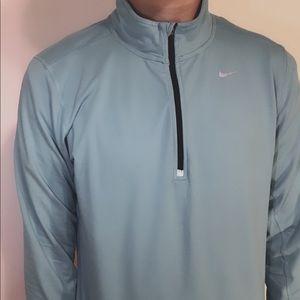 Bright blue Nike running quarter zip jacket